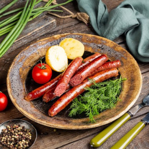 Колбаски для жарки из мяса кабана