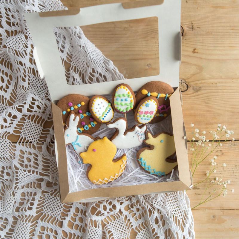 Набор имбирного печенья от Юлии ГриценкоЧудесный набор имбирного печенья ручной работы от Юлии Гриценко.<br><br>Вес уп ( 200 г ): 1