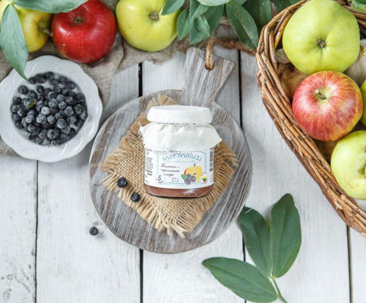 Яблочно-черничное пюре с 5-ти месяцев