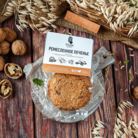 Печенье овсяное с грецким орехом и изюмом
