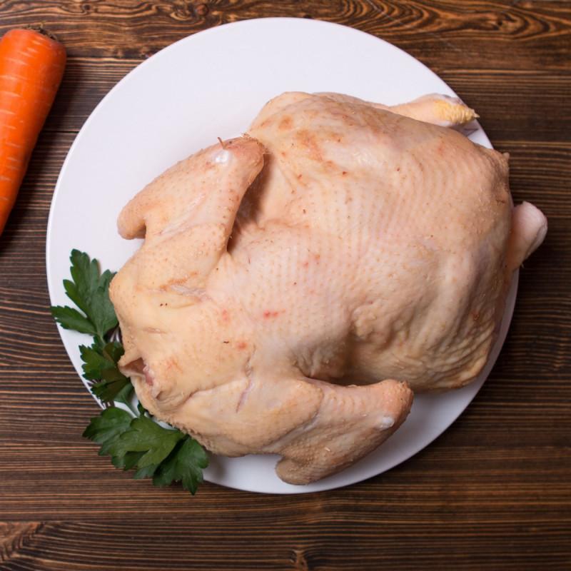 Курица от Александра МоисееваМясо курочки плотное и розовое — ведь это молодая курица, птица сидит на зерновом откорме: в рационе только натуральный комбикорм и кукуруза. К зерну добавляются цветки календулы, которые являются натуральным антисептиком. При выращивании не используют антибиотики и гормоны роста. Потому-то и жирок у этих бройлерных курочек полупрозрачный, придающий особый вкусовой оттенок мясу.<br><br>Вес кг.: 1.5