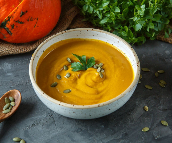Суп-пюре тыквенный co сладким картофелем