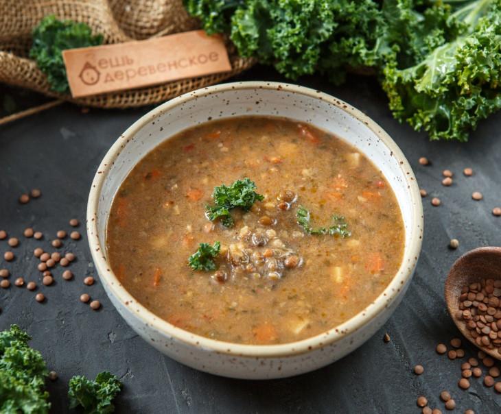 Суп из трех сортов чечевицы