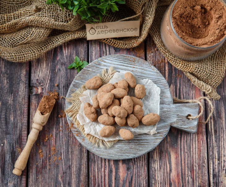 Какао-бобы в горьком ремесленном шоколаде