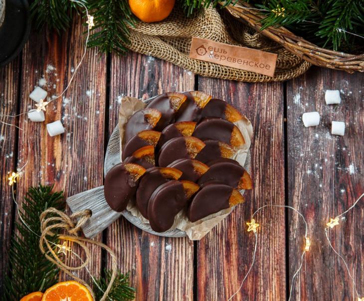 Апельсиновые дольки в ремесленном шоколаде