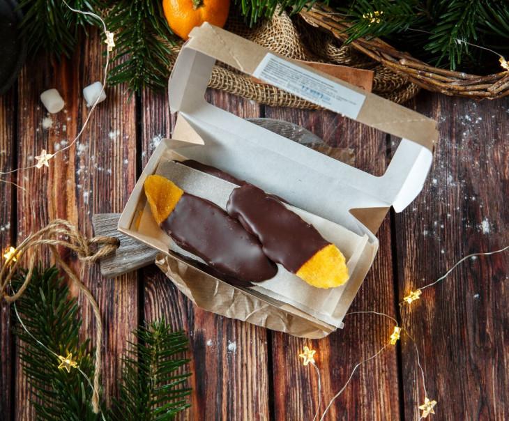 Манго вяленый в горьком ремесленном шоколаде