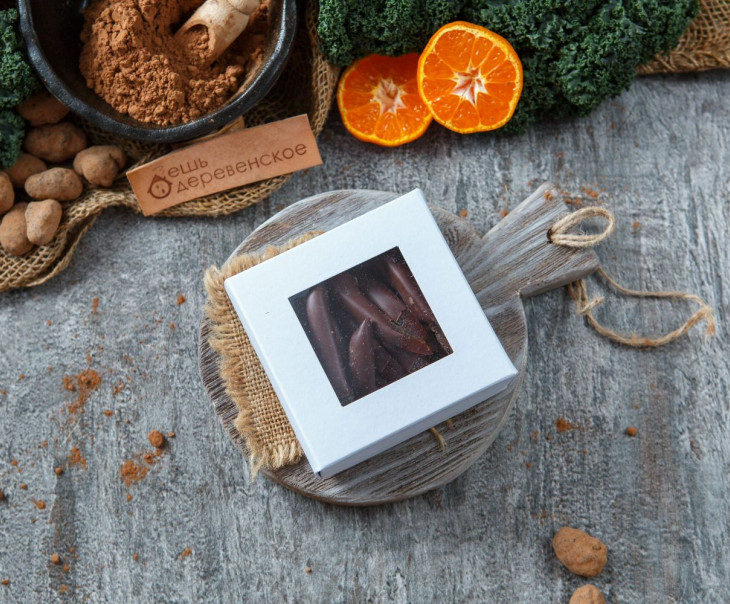 Цукаты из апельсина в темном шоколаде, 100 г