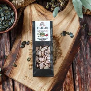 Штирийские тыквенные семечки в глазури белый шоколад со вкусом малины