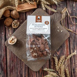 Кантуччини шоколадное с инжиром и грецким орехом