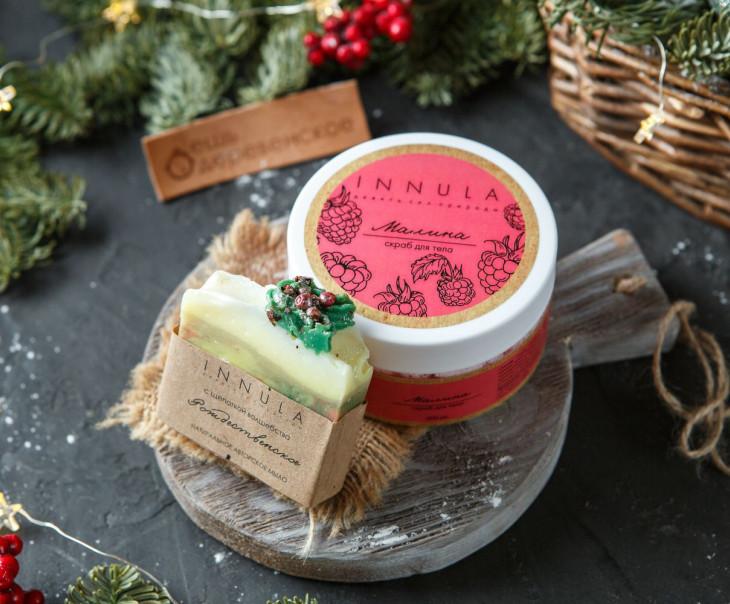 Подарочный набор для тела (мыло + скраб)