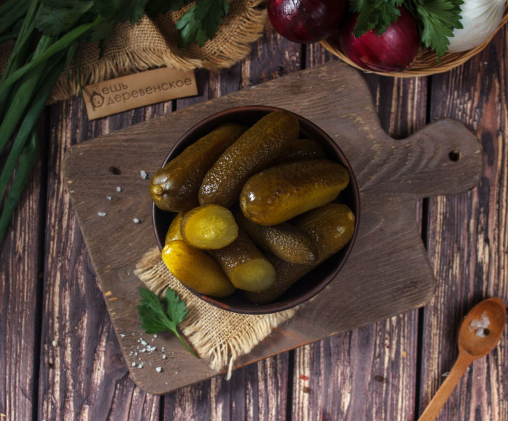Огурцы соленые (пластиковая упаковка)