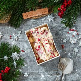 Шоколад Счастье белый с кешью, малиной и розовым перцем