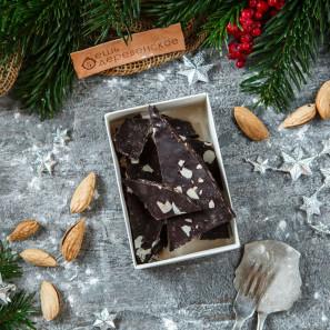 Шоколад Счастье горький с миндалем и какао бобами