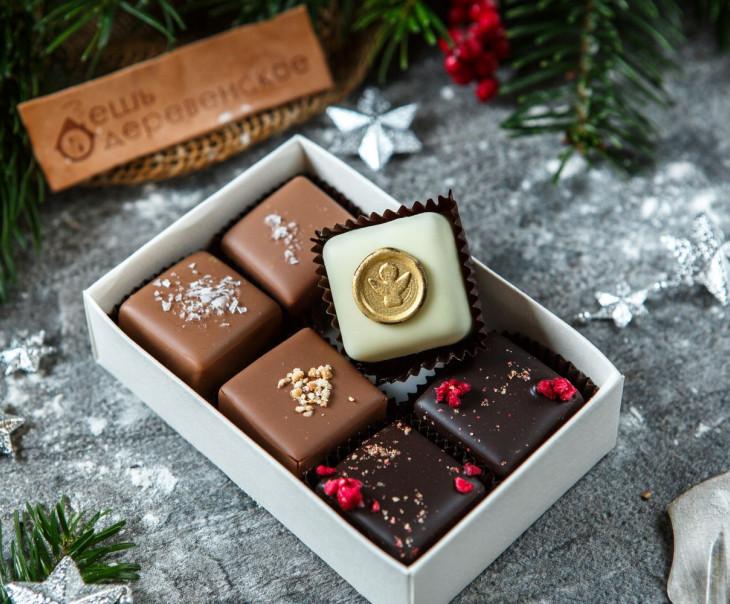 Набор шоколадных конфет, 6 шт.