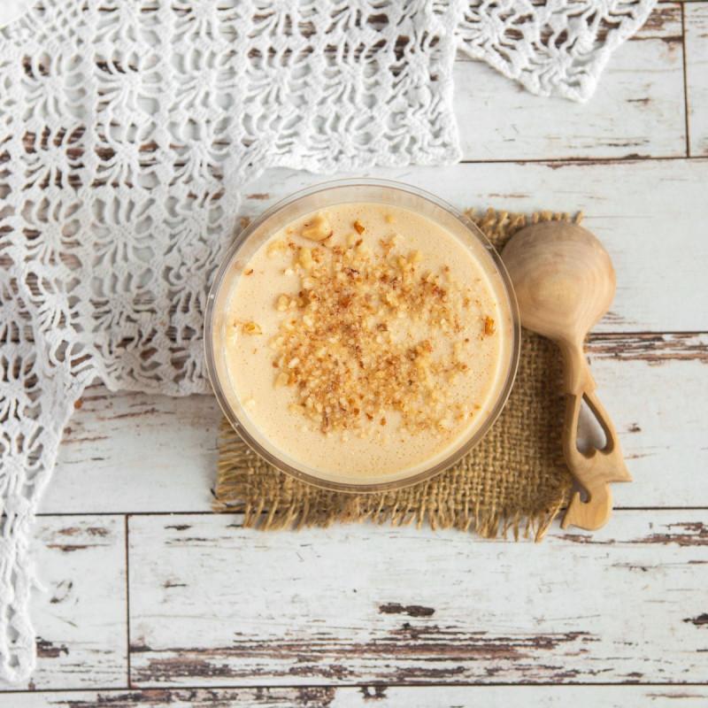 Десерт из ряженки Рыжик с Аннушкиной фермыВкусный и полезный молочный десерт из ряженки и орехов.<br><br>Вес г.: 150
