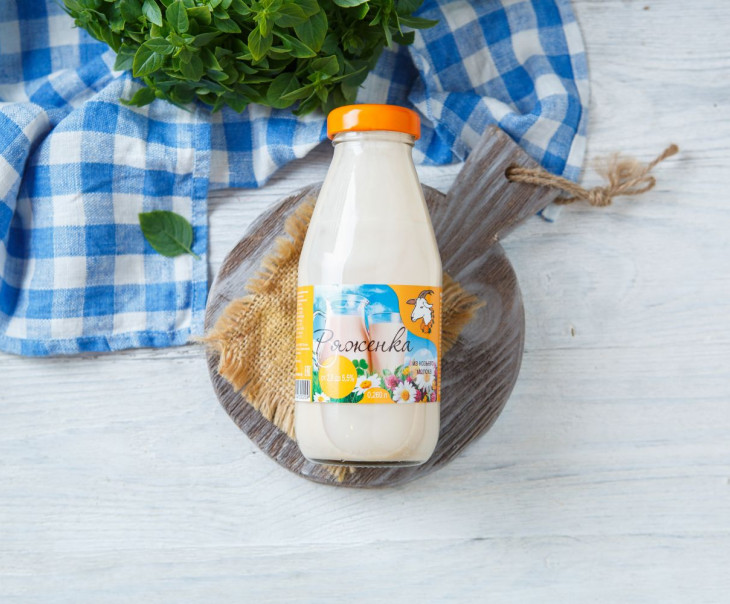 Ряженка из козьего молока 2,8 - 5,5 %
