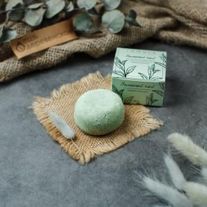 Твердый шампунь Зеленый чай для нормальных и жирных волос