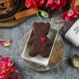 Шоколадное печенье Мишка