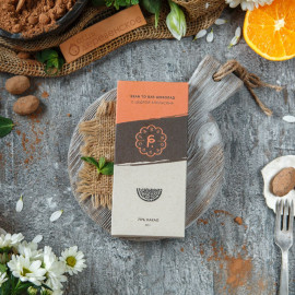Шоколад с цедрой апельсина 70%