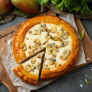 Пирог с карамелизированной грушей и Дор-Блю сырно- творожный