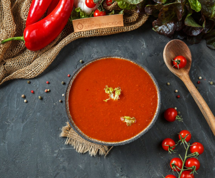 Суп холодный томатный Гаспачо