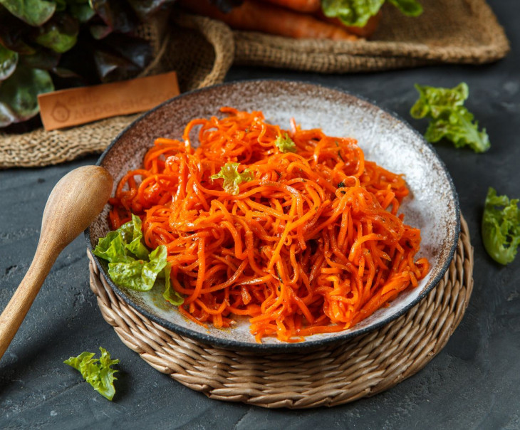 Морковь по-корейски деликатной остроты