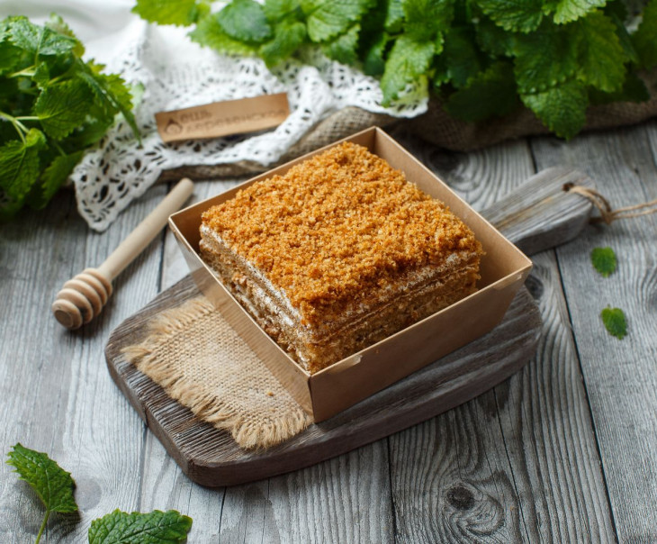 """Торт """"Медовик"""" постный"""
