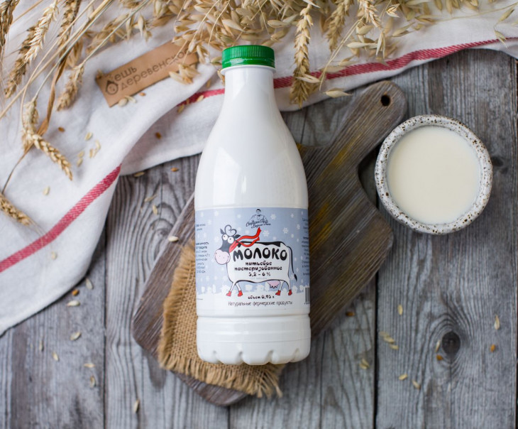 Молоко коровье 3,2 - 6 %
