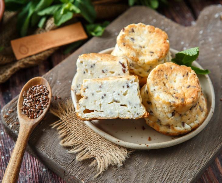 Сырники с семенами чиа и льна без сахара