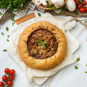 Пирог веганский из ц/з муки с картофелем и укропом