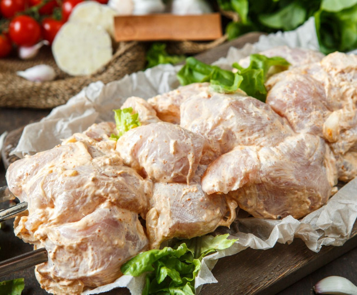 Шашлык из филе куриной грудки