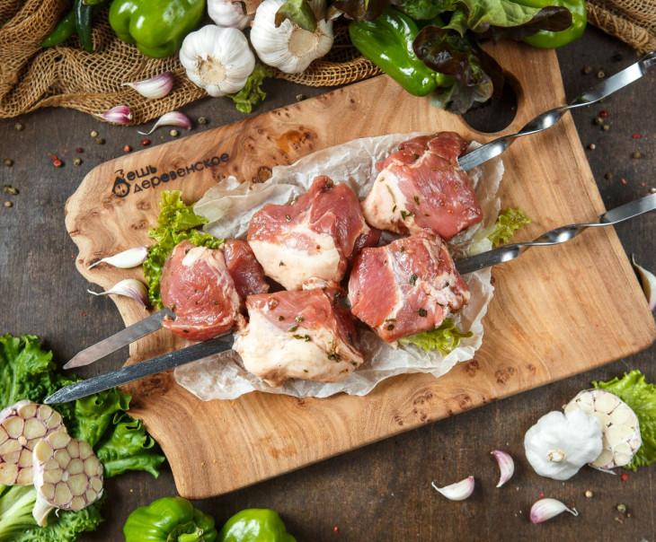 Шашлык свиной в чесночном маринаде