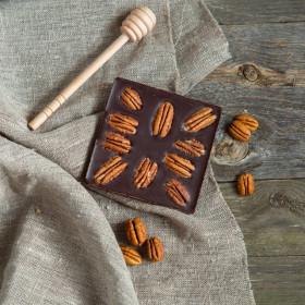 Шоколад ремесленный горький 72% с орехом пекан