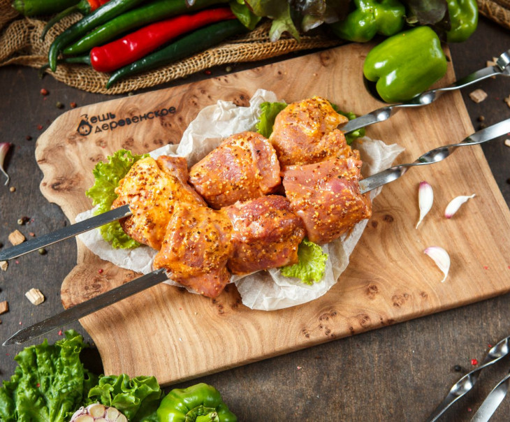 Шашлык свиной в горчично-медовом маринаде
