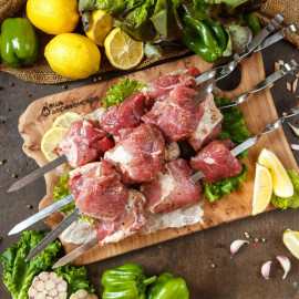 Шашлык свиной в лимонном маринаде