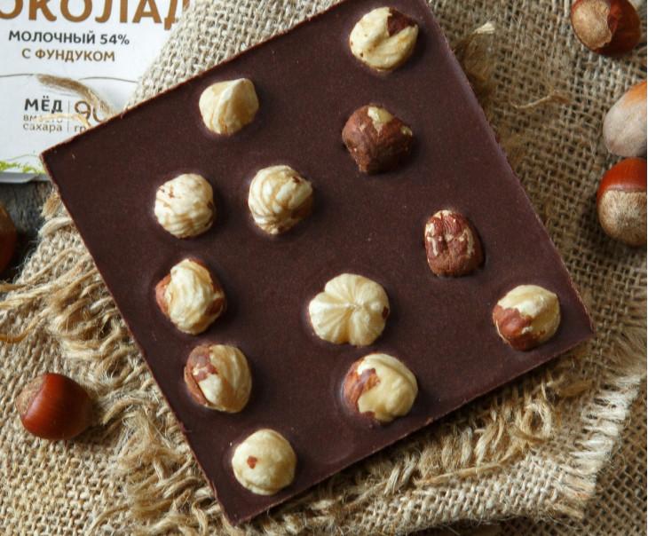 Шоколад ремесленный молочный с фундуком