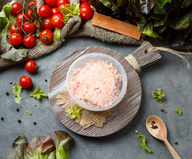 Сало соленое с красным перцем чили (протертое)