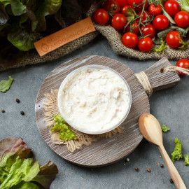Сало соленое с чесноком (протертое)