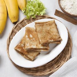 Блины классические с банановым соусом