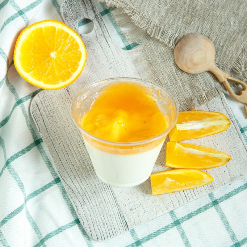 Йогурт 4% апельсиновыйНатуральный ложковый сливочный йогурт Нежность с наполнителем<br><br>Вес г.: 200