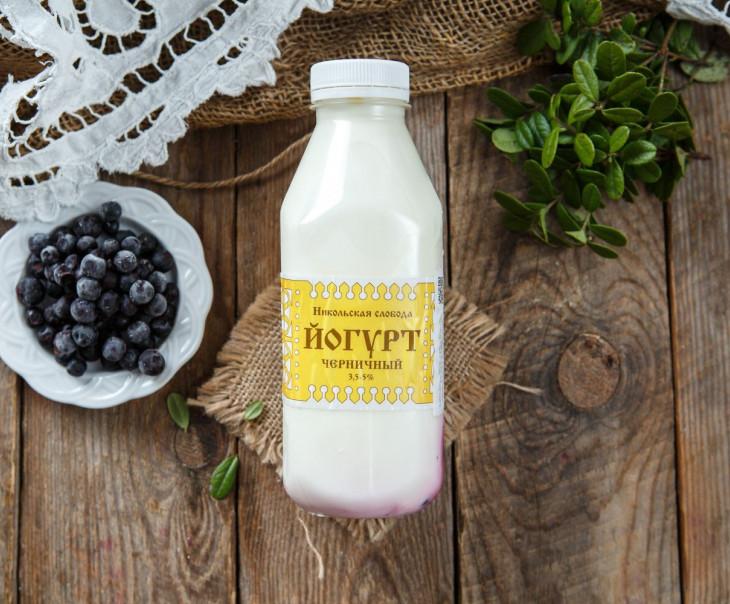 Йогурт черничный 3,5-4%