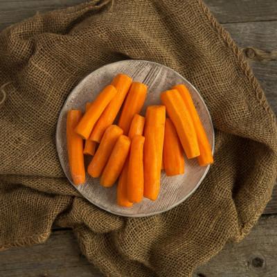 Морковь чищеная мытая