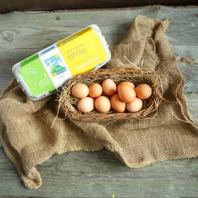 Яйца коричневые от молодой курицы