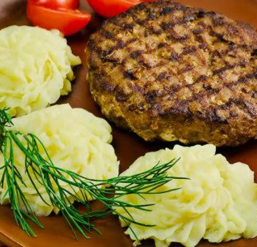 НАСТОЯЩИЙ БИФШТЕКС с картофельным пюре